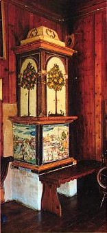 tile stove from Gleifheim Castle, Austria, photo by Gunter von Voithenberg
