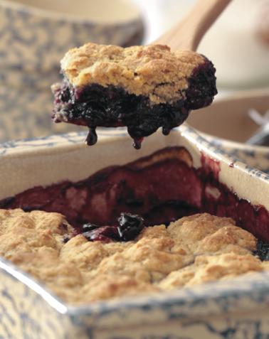 RECIPE: Summer Cherry Cornmeal Cobbler