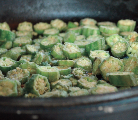 RECIPE: Dry-Fried Okra