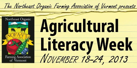 Celebrate Agricultural Literacy Week with NOFA-VT: November 18-24