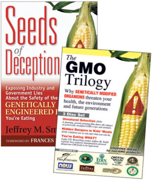 The Seeds of Deception & GMO Trilogy (Book & DVD Bundle) cover