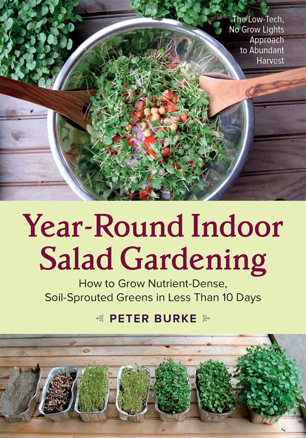 The Year-Round Indoor Salad Gardening cover