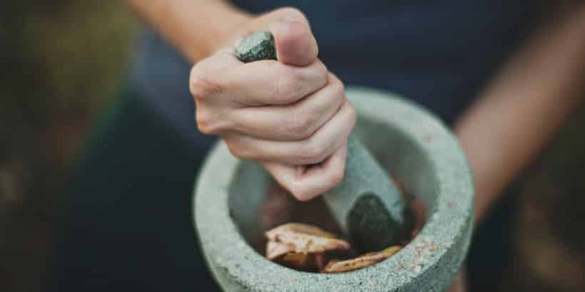 herb mortar and pestle