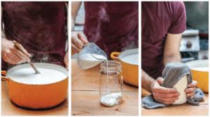 making yogurt