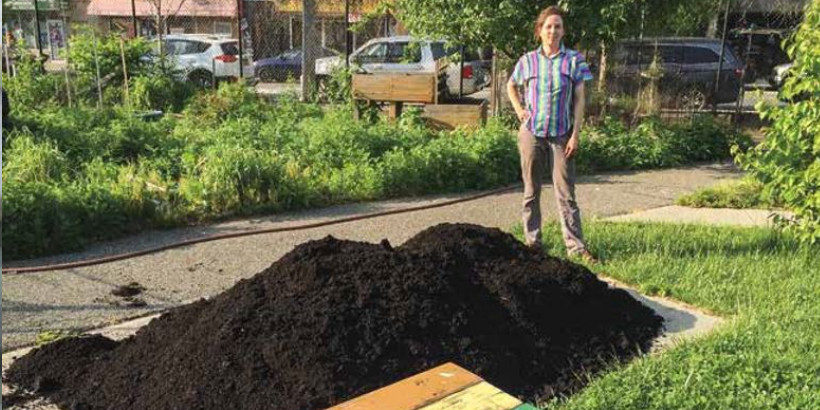 compost in a community garden