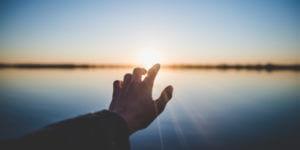 person reaching