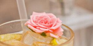 rose in drink