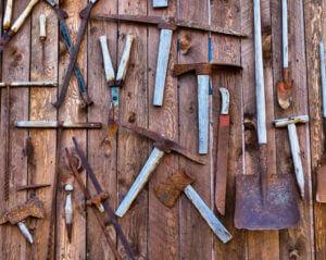 tools on table