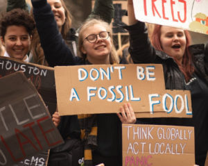 don't be a fossil fool protest sign