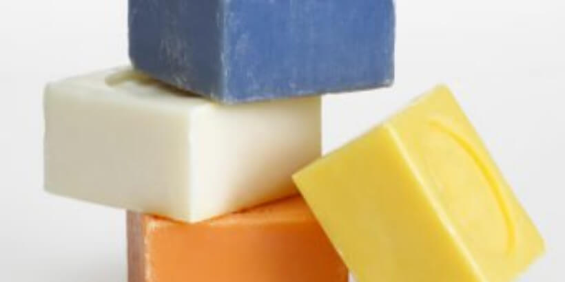 stack of colorful bar soap