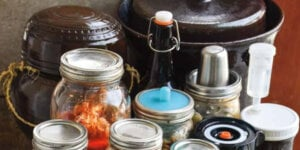jars of fermenting food